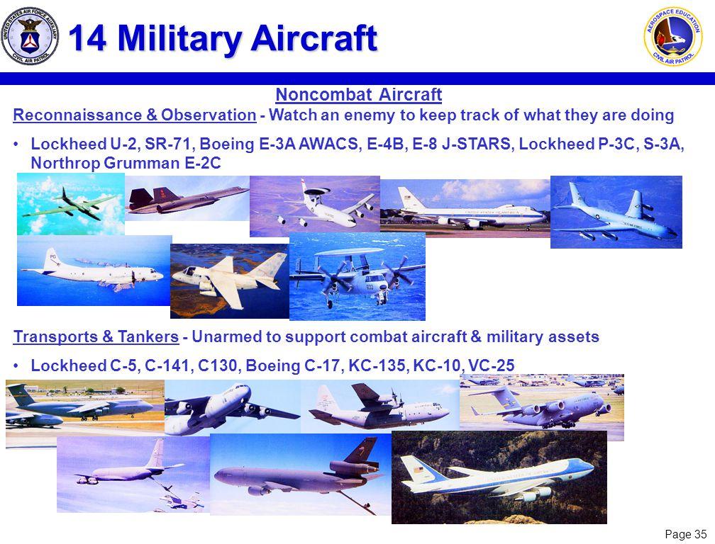 14 Military Aircraft Noncombat Aircraft