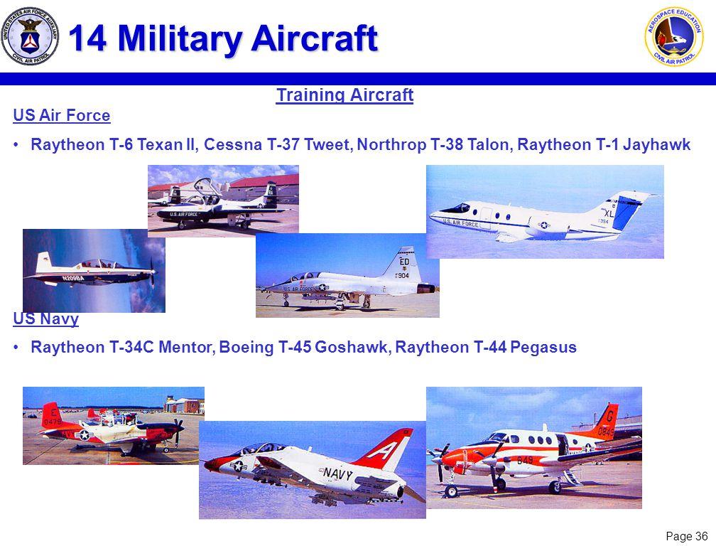 14 Military Aircraft Training Aircraft US Air Force