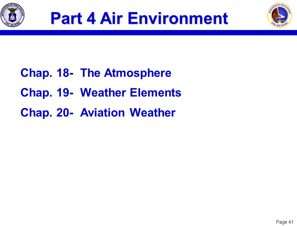 Part 4 Air Environment Chap. 18- The Atmosphere