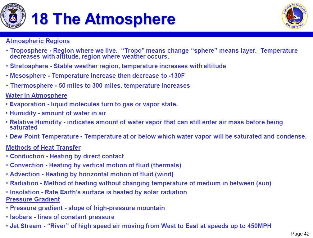 18 The Atmosphere Atmospheric Regions