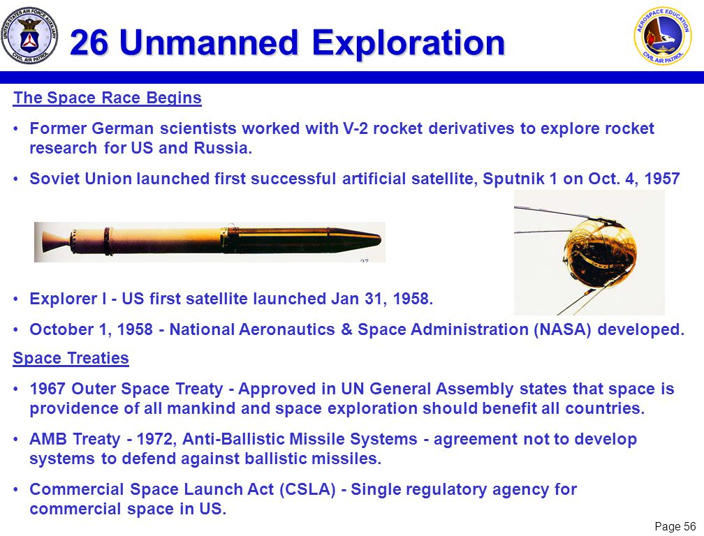 26 Unmanned Exploration The Space Race Begins