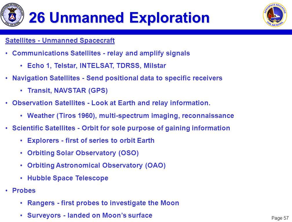 26 Unmanned Exploration Satellites - Unmanned Spacecraft