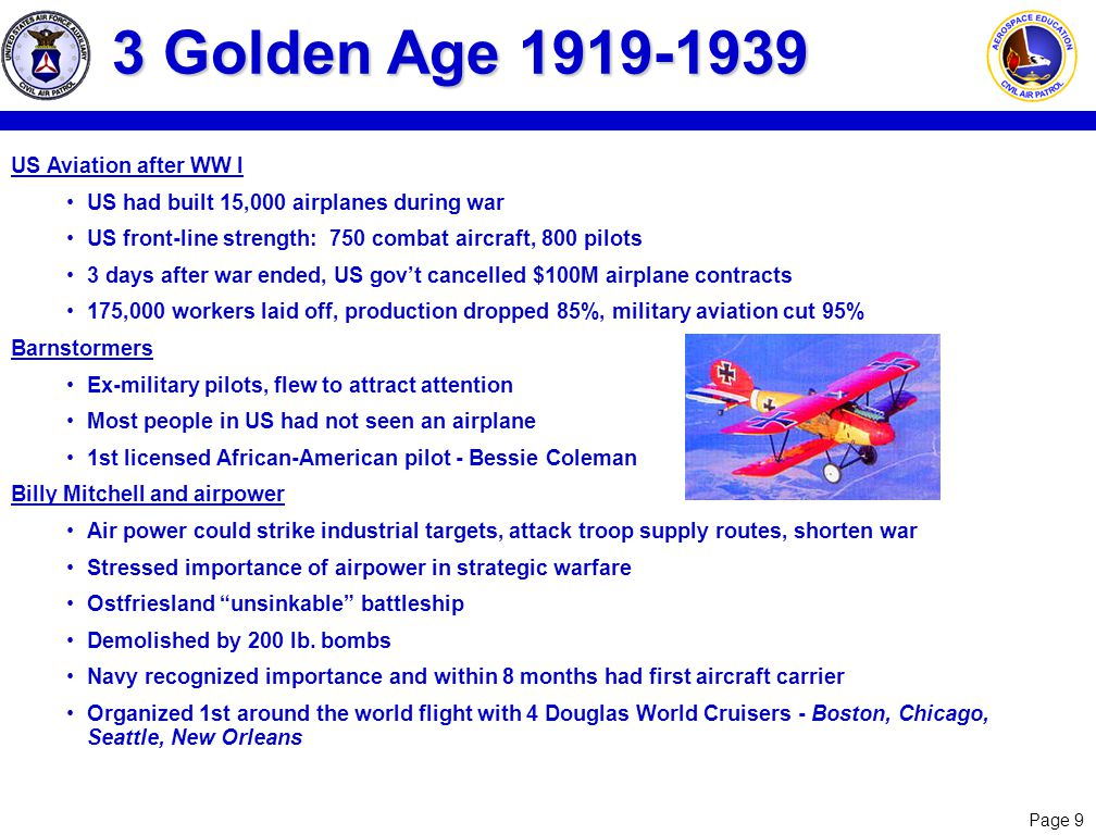 3 Golden Age 1919-1939 US Aviation after WW I
