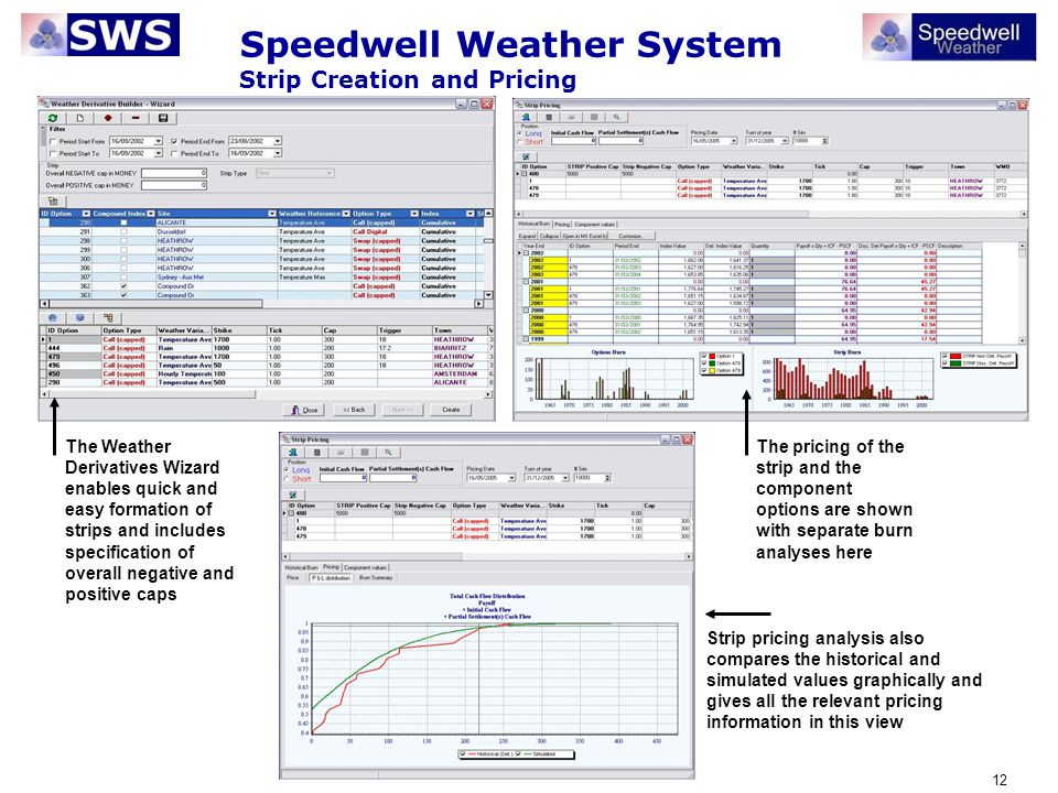 Speedwell Weather System Strip Creation and Pricing