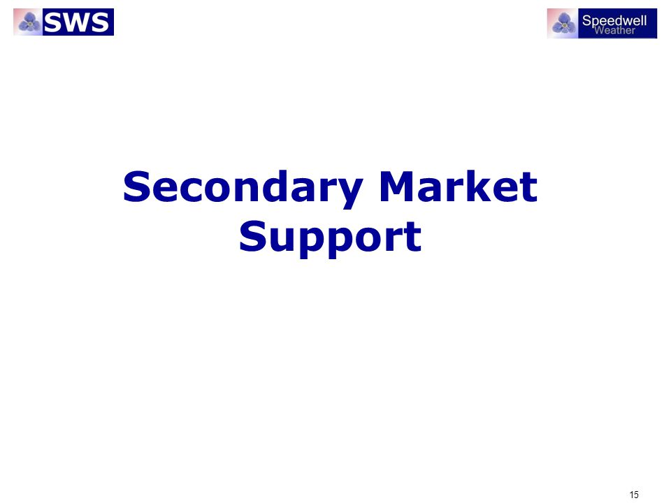 Secondary Market Support