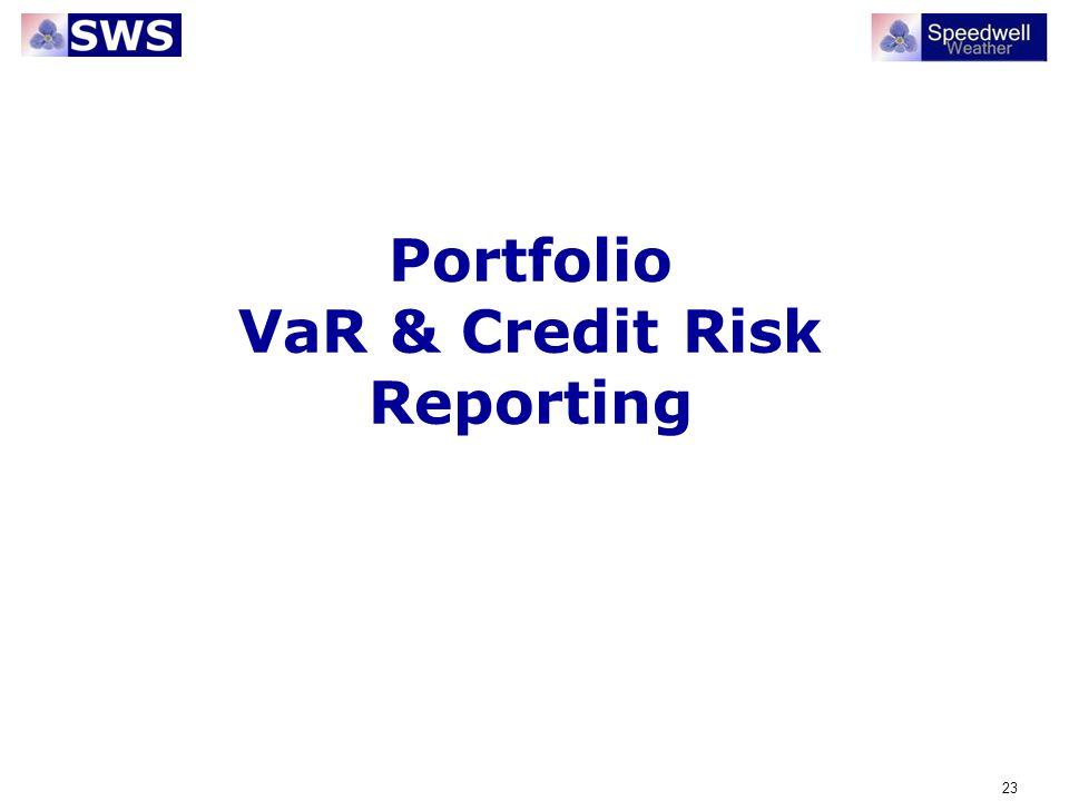 Portfolio VaR & Credit Risk Reporting
