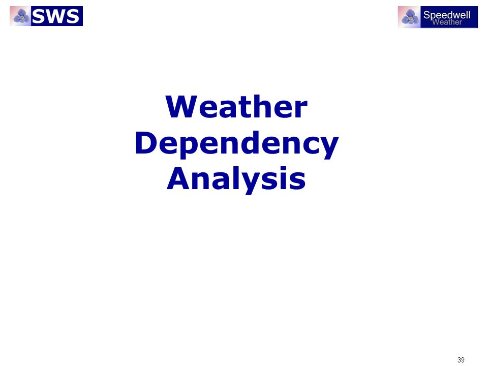Weather Dependency Analysis