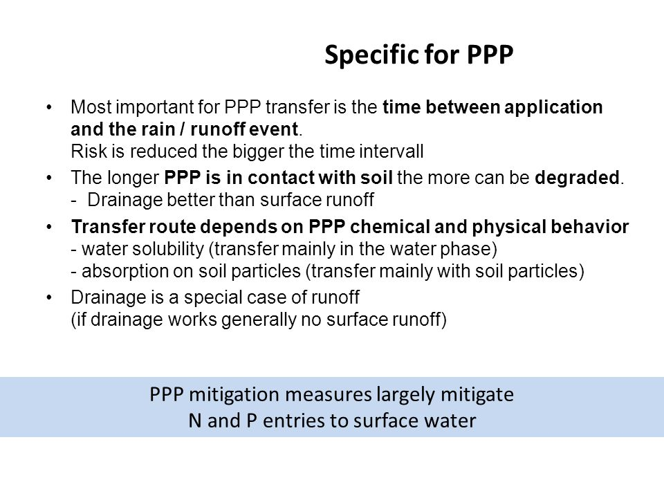 Specific for PPP