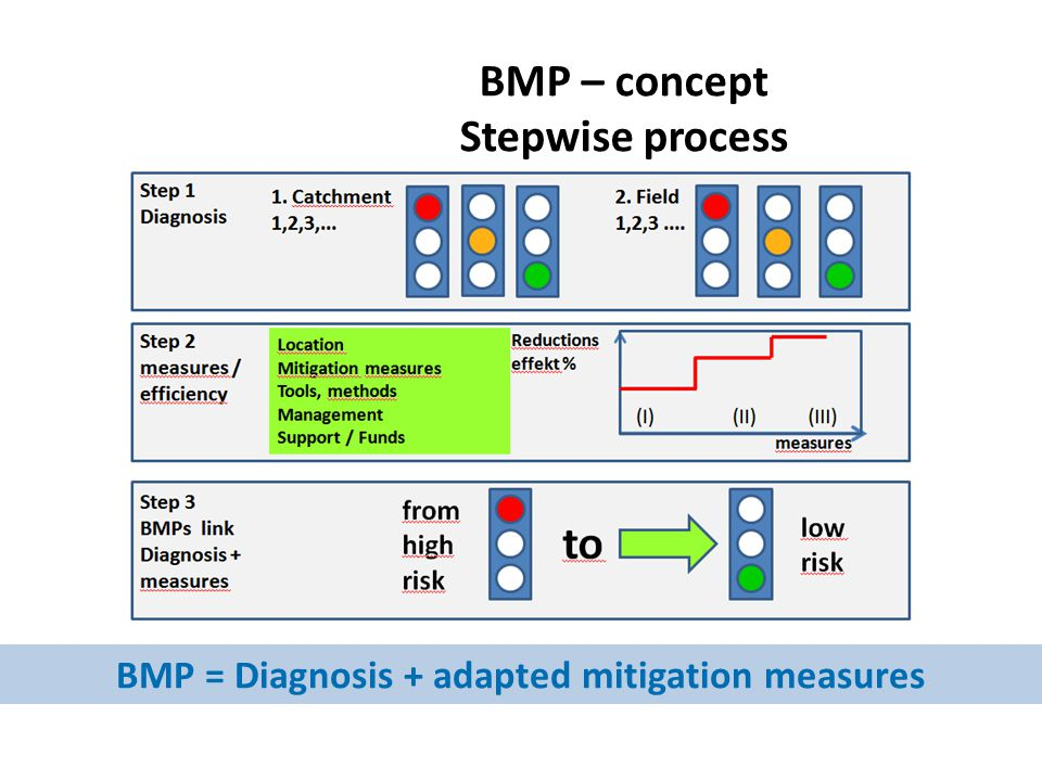 BMP – concept Stepwise process