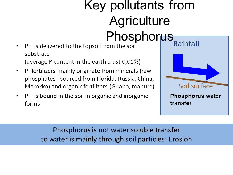 Key pollutants from Agriculture Phosphorus