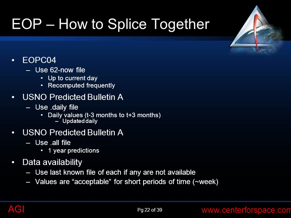 EOP – How to Splice Together