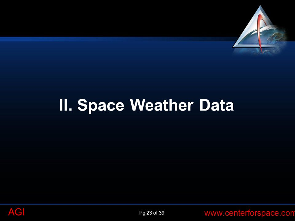 II. Space Weather Data