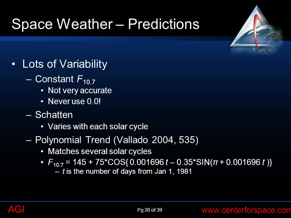 Space Weather – Predictions