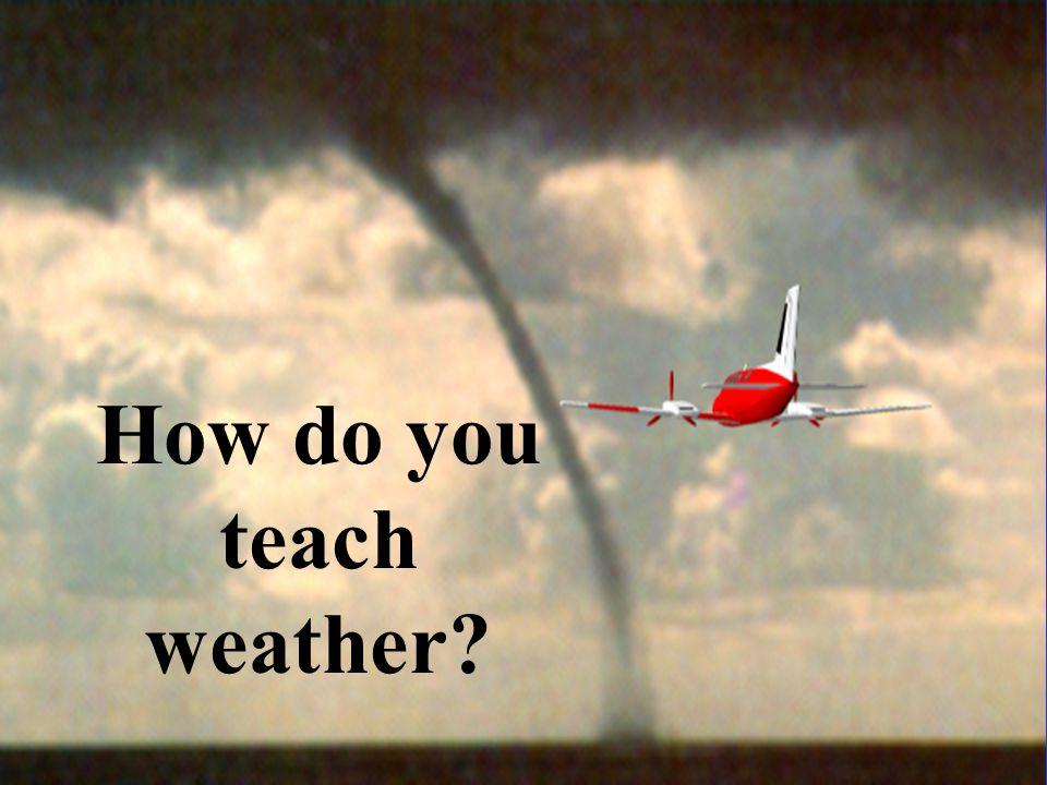 How do you teach weather