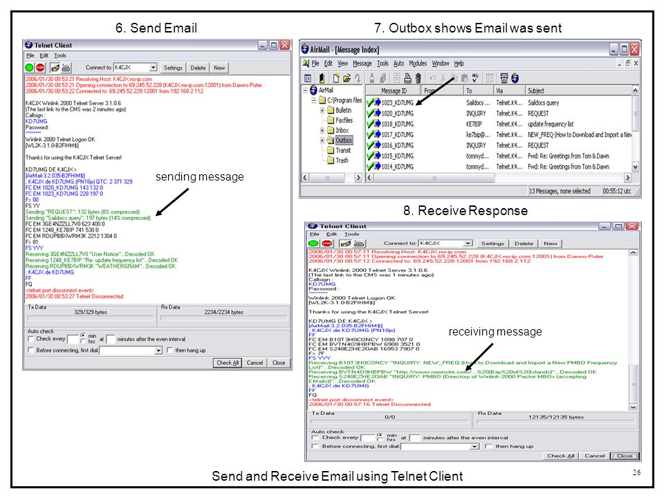 7. Outbox shows Email was sent