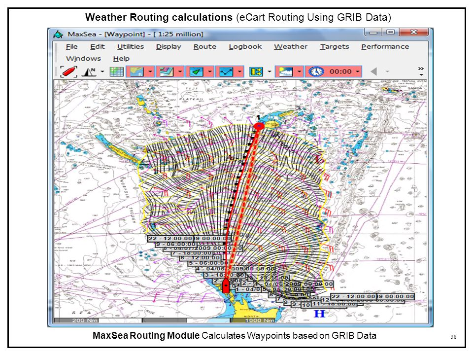 Weather Routing calculations (eCart Routing Using GRIB Data)