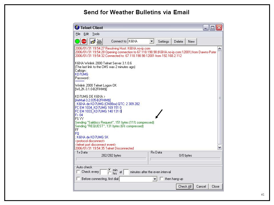 Send for Weather Bulletins via Email