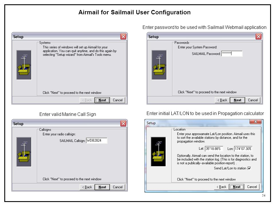 Airmail for Sailmail User Configuration