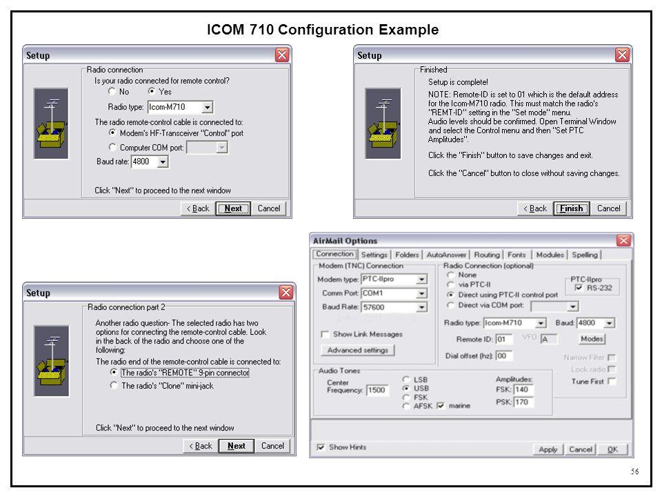 ICOM 710 Configuration Example