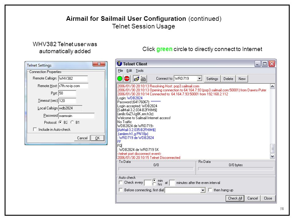 Airmail for Sailmail User Configuration (continued)