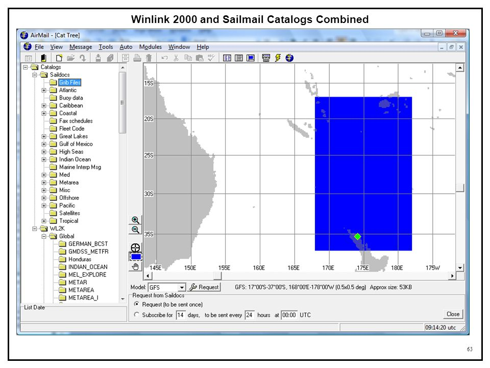 Winlink 2000 and Sailmail Catalogs Combined