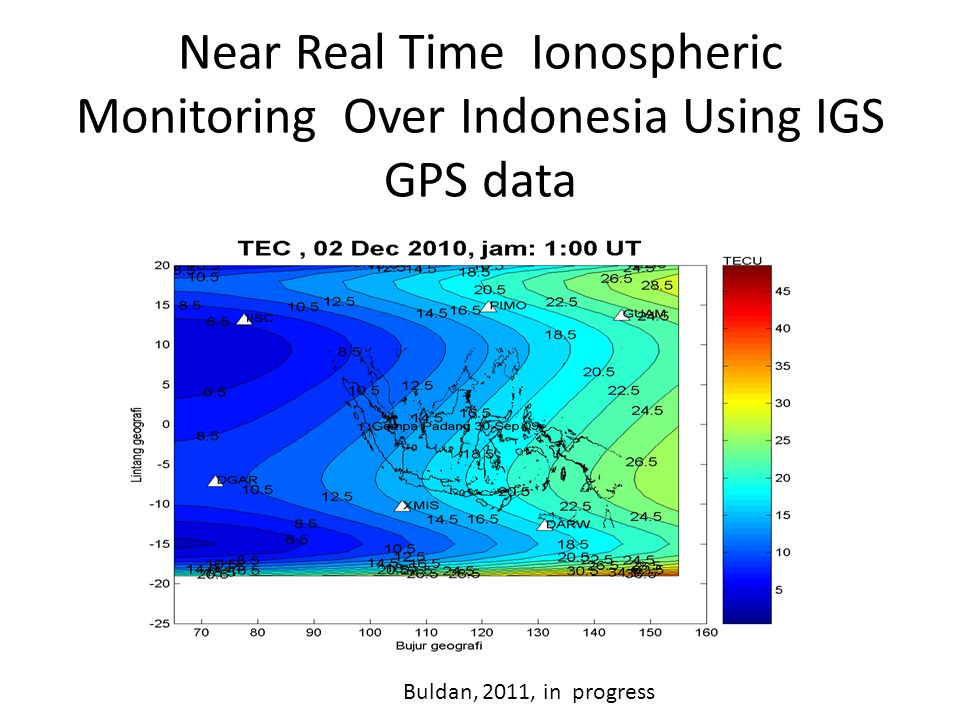Near Real Time Ionospheric Monitoring Over Indonesia Using IGS GPS data