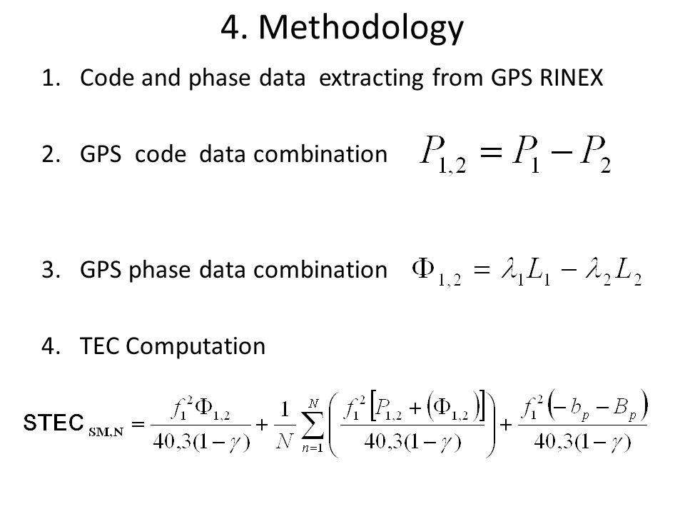 4. Methodology Code and phase data extracting from GPS RINEX