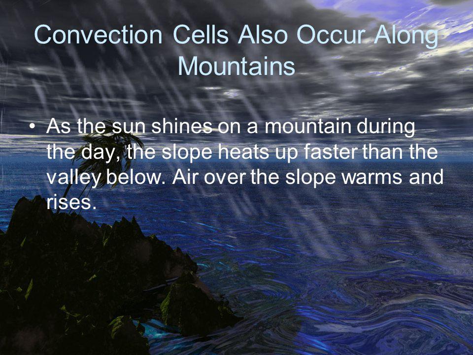 Convection Cells Also Occur Along Mountains