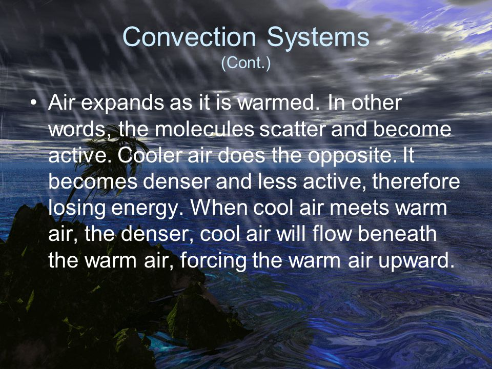 Convection Systems (Cont.)