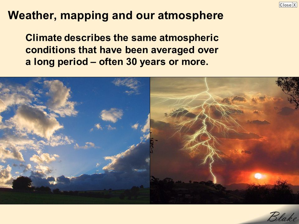 Weather, mapping and our atmosphere