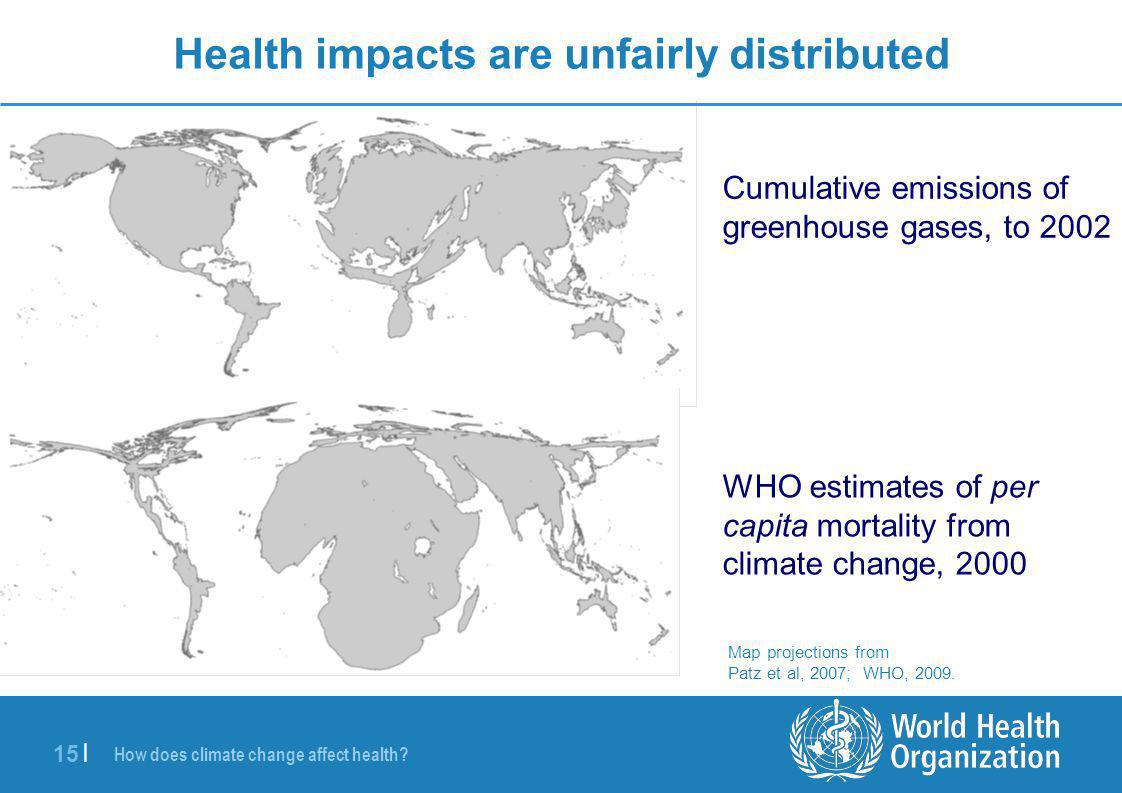 Health impacts are unfairly distributed