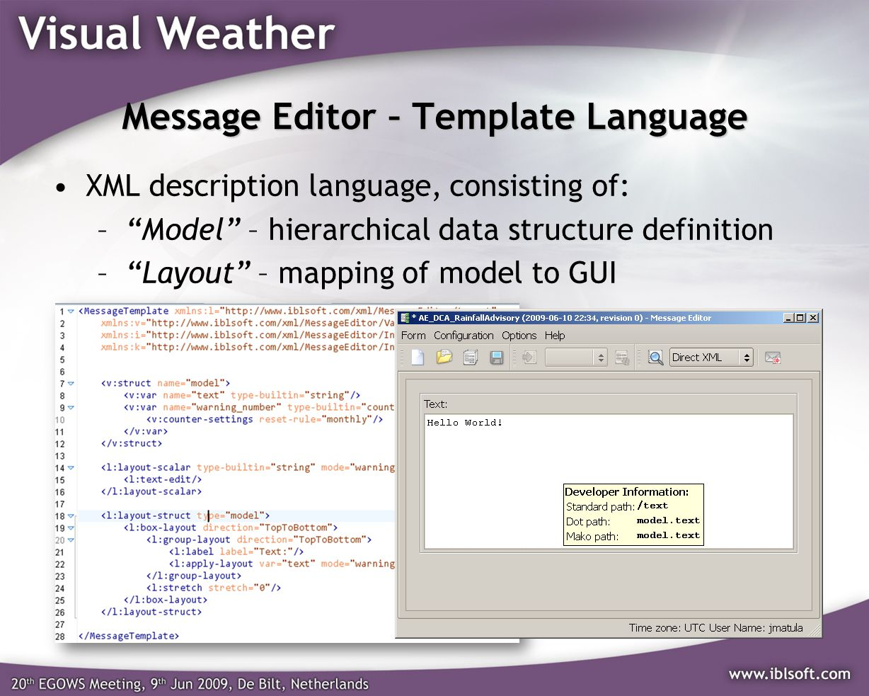 Message Editor – Template Language