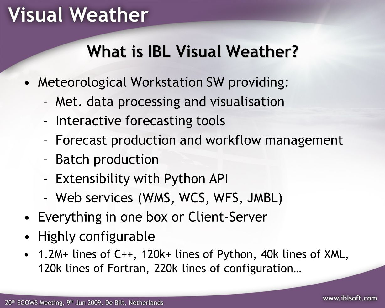 What is IBL Visual Weather