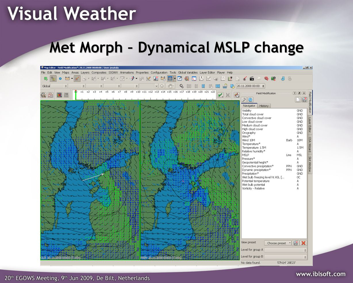 Met Morph – Dynamical MSLP change