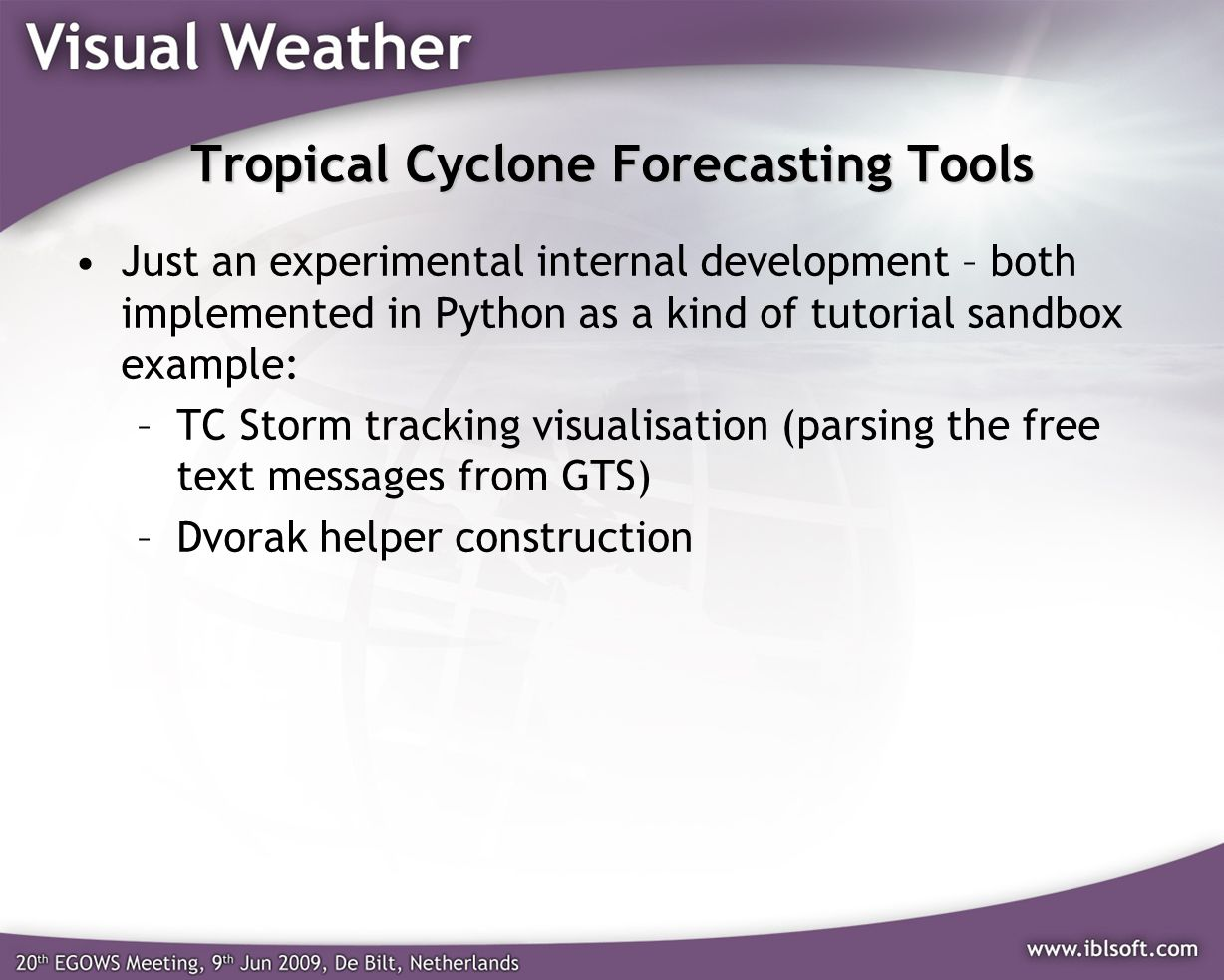 Tropical Cyclone Forecasting Tools