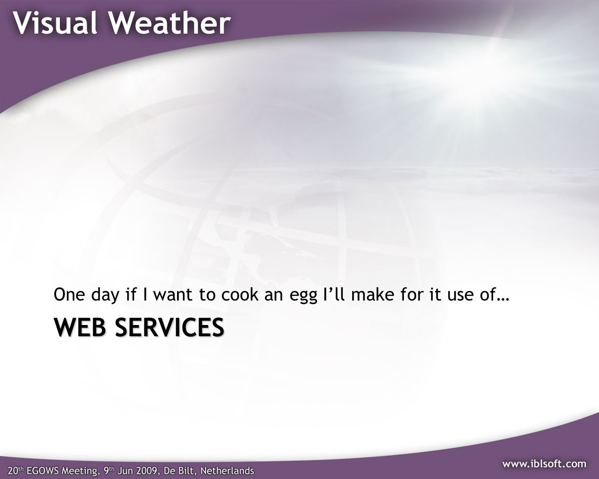 One day if I want to cook an egg I'll make for it use of…