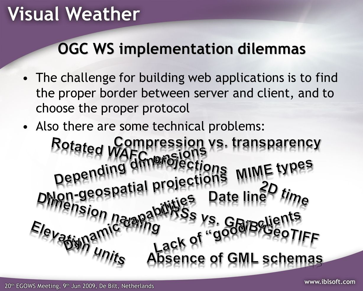 OGC WS implementation dilemmas