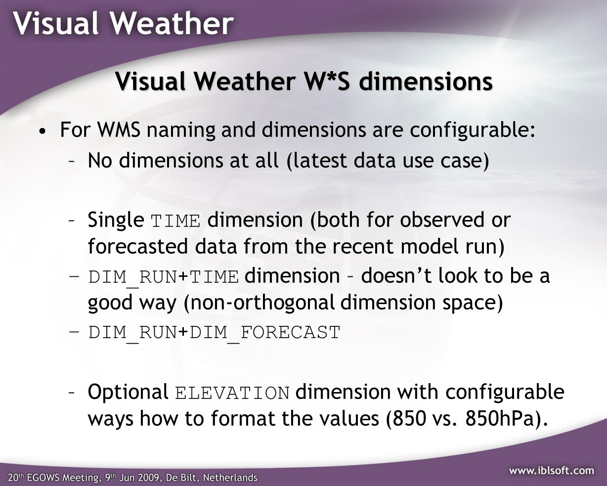 Visual Weather W*S dimensions