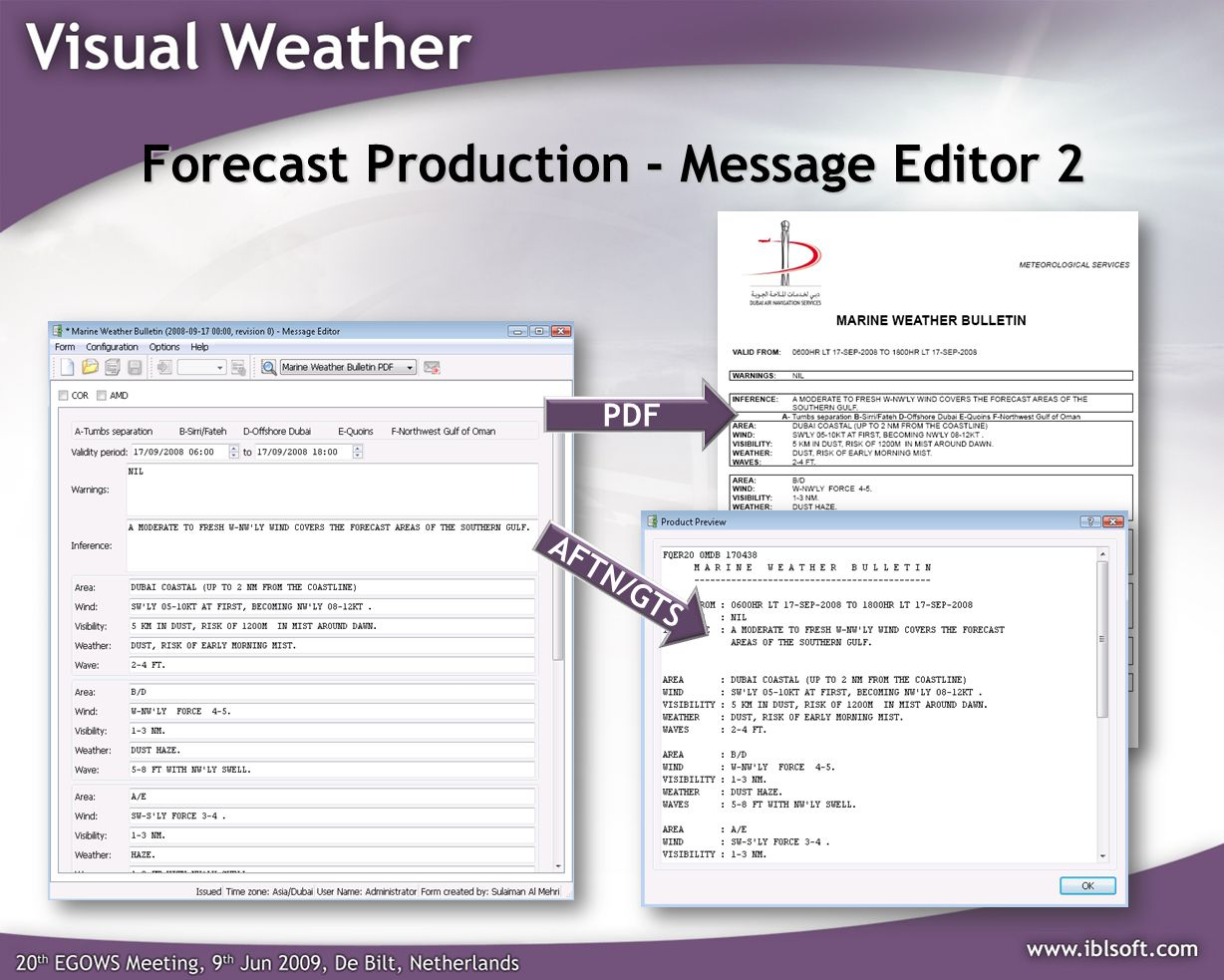 Forecast Production - Message Editor 2