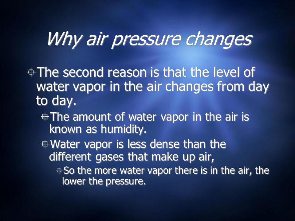 Why air pressure changes