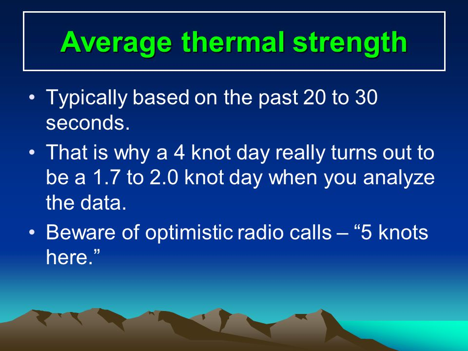 Average thermal strength