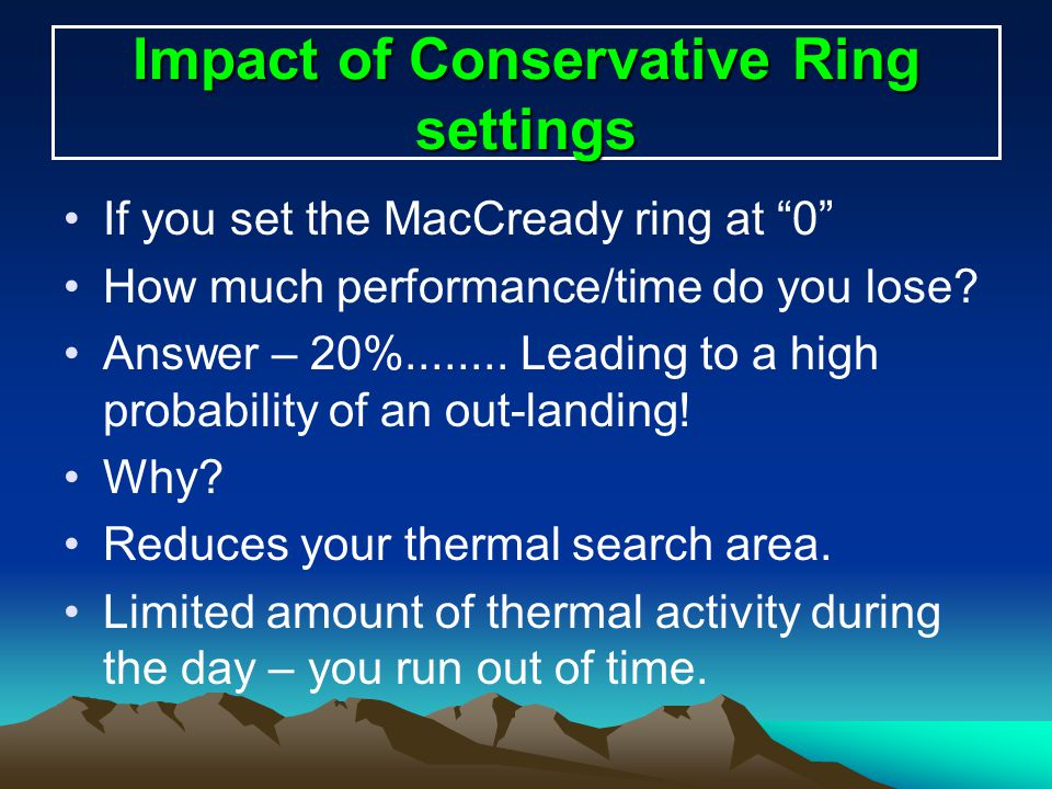 Impact of Conservative Ring settings
