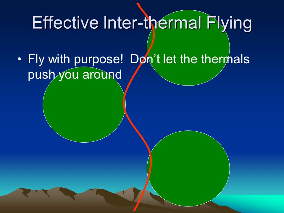 Effective Inter-thermal Flying