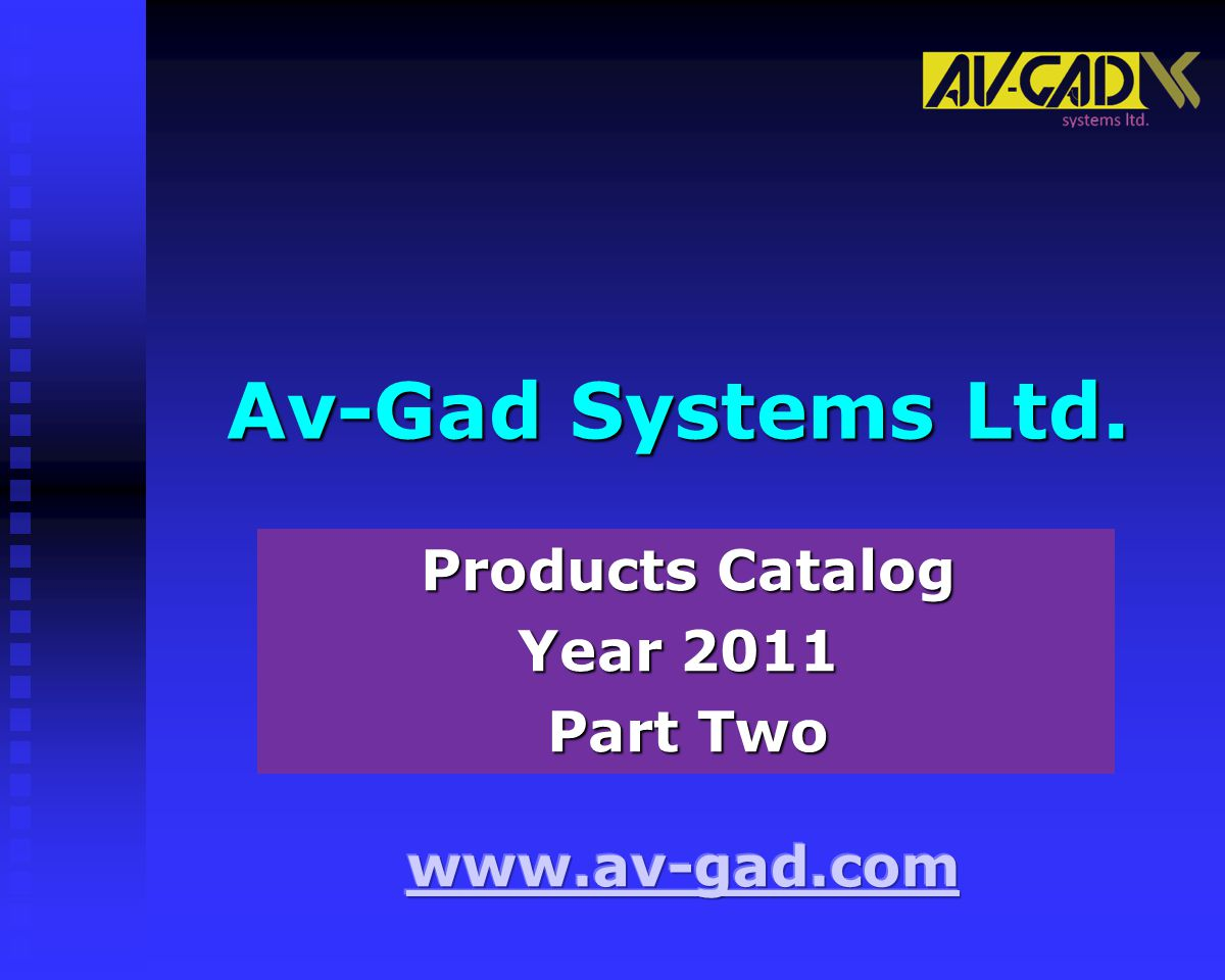 Products Catalog Year 2011 Part Two
