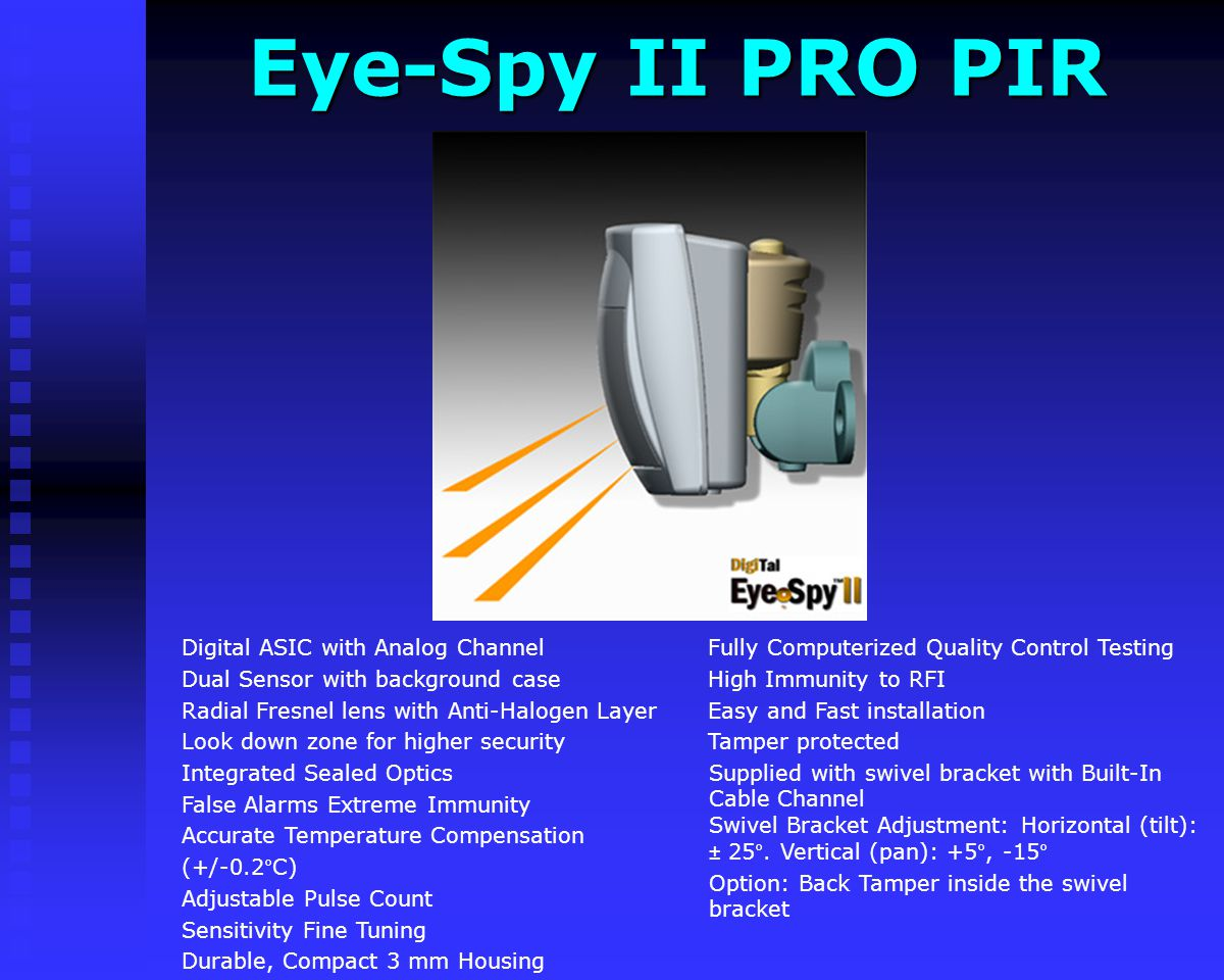 Eye-Spy II PRO PIR Fully Computerized Quality Control Testing