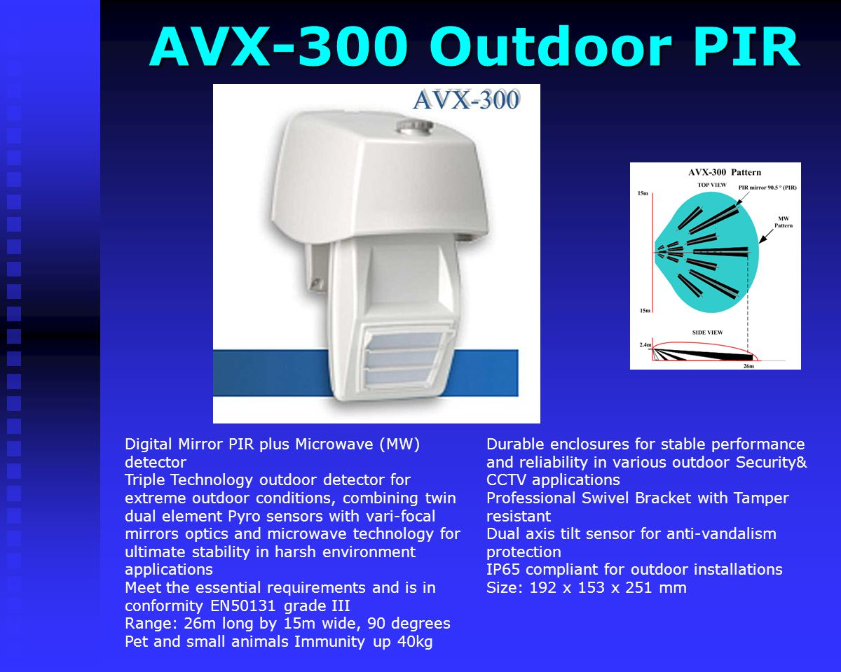 AVX-300 Outdoor PIR
