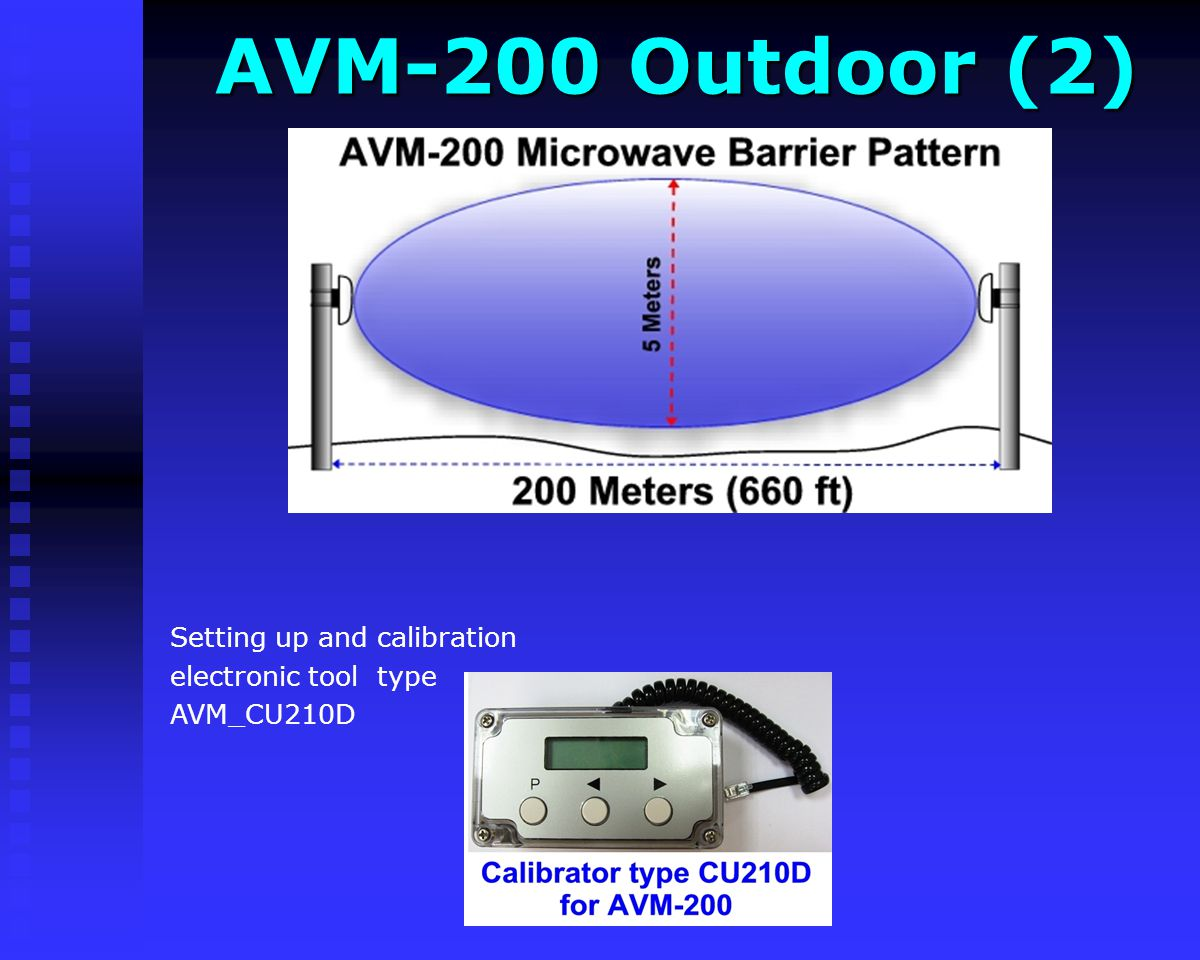 AVM-200 Outdoor (2) Setting up and calibration electronic tool type
