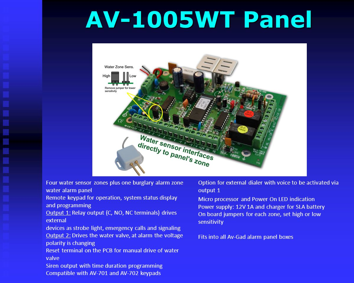 AV-1005WT Panel Option for external dialer with voice to be activated via output 1.