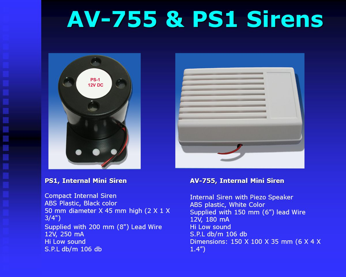 AV-755 & PS1 Sirens AV-755, Internal Mini Siren