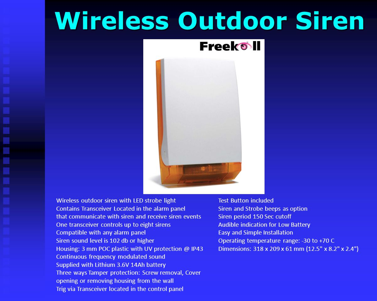 Wireless Outdoor Siren